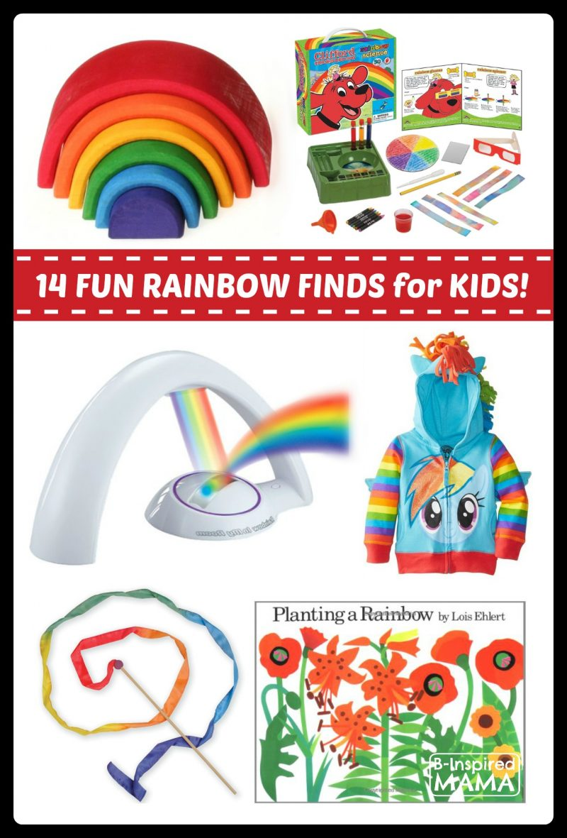 14 Fun Finds for Rainbow Play and Learning at B-Inspired Mama