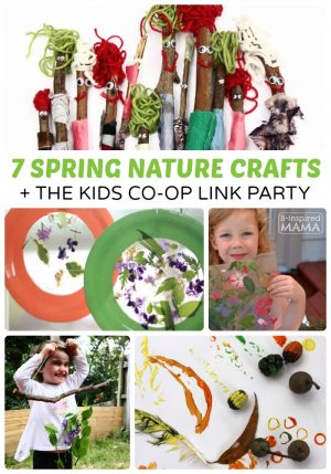 7 Simple Spring Nature Crafts for Kids + The Kids Co-Op Link Party at B-Inspired Mama