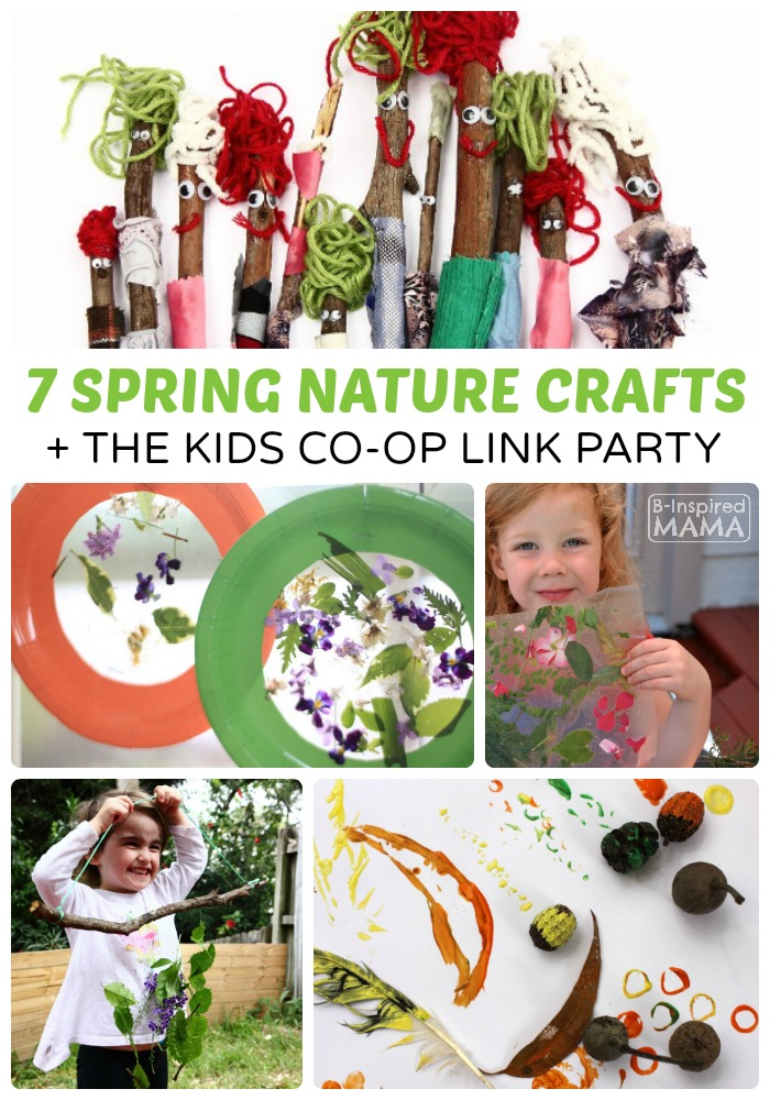 7 Simple Spring Nature Crafts For Kids