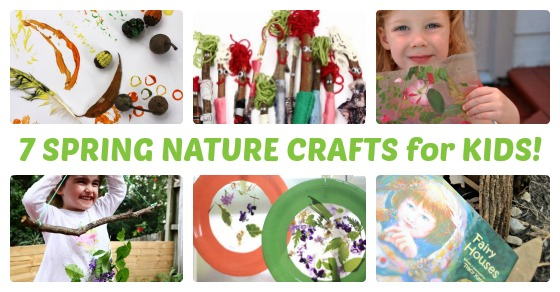 7 simple spring nature crafts for kids for Nature crafts for kids