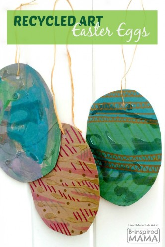 Recycled Art Easter Eggs for Kids at B-Inspired Mama