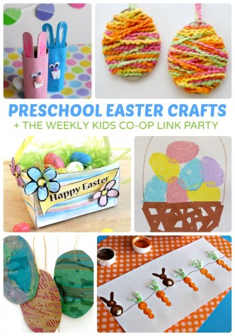 Adorable Preschool Easter Crafts + The Kids Co-Op Link Party at B-Inspired Mama
