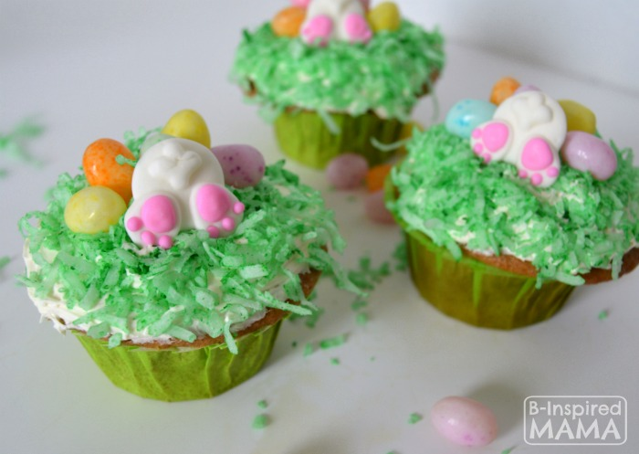 Cute and Easy Bunny Nutt Easter Cupcakes - A Kids in the Kitchen Recipe at B-Inspired Mama