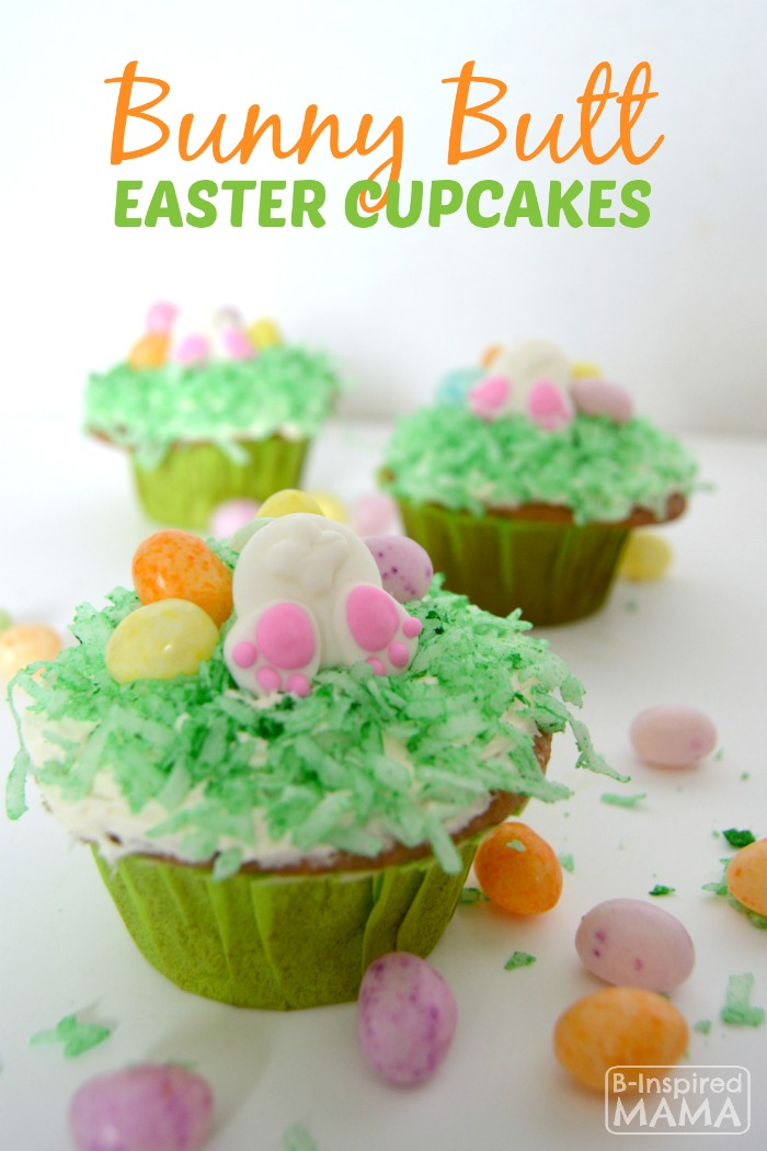 Easy Bunny Nutt Easter Cupcakes - A Kids in the Kitchen Recipe at B-Inspired Mama