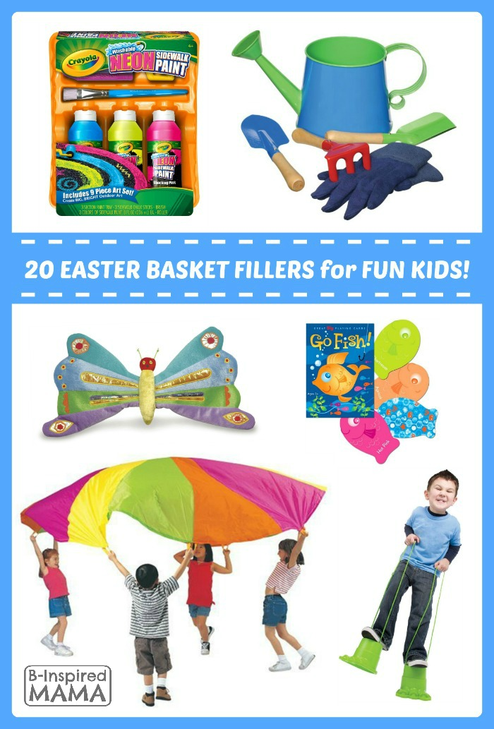 Fun Finds Friday - 20 Easter Basket Fillers for Fun Kids at B-Inspired Mama