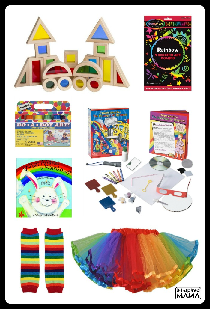Fun Finds for Rainbow Play and Learning at B-Inspired Mama