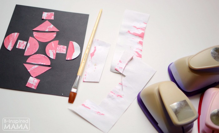 How to Make Stickers with Old Kids Art - at B-Inspired Mama