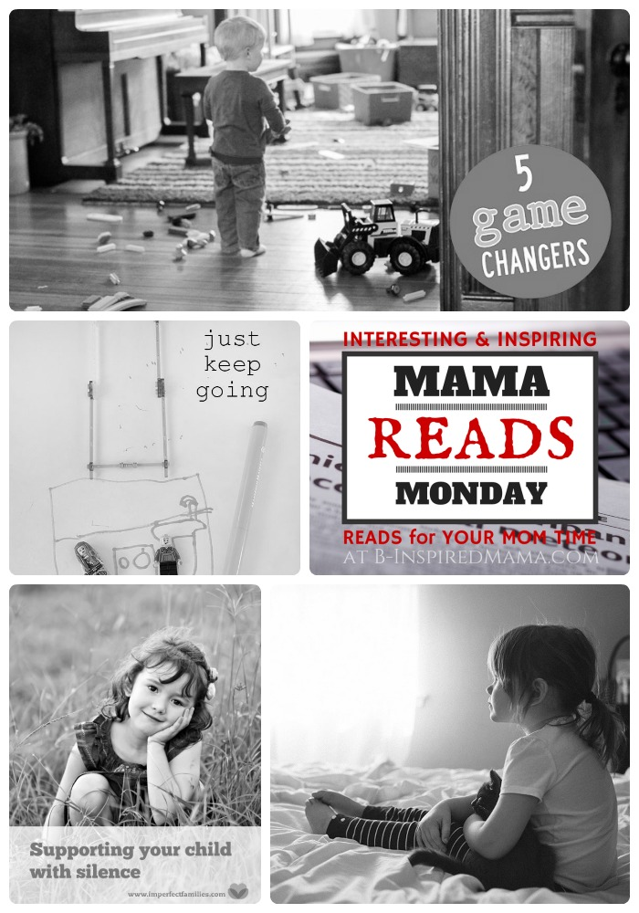 Mama Reads Monday Link Party - Silence, Grace, and More - Quick and Encouraging Reads for Moms at B-Inspired Mama