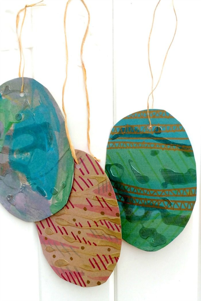 Recycled Easter Eggs Art Project for Kids at B-Inspired Mama