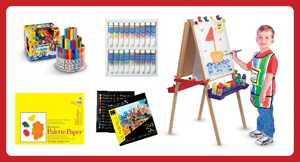 25 Fun Finds for Creative Kids - Art Supplies and an Easel -  B-Inspired Mama