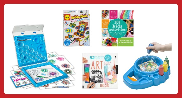 25 Fun Finds for Creative Kids - Classic Art Toys and Art Activity Books-  B-Inspired Mama