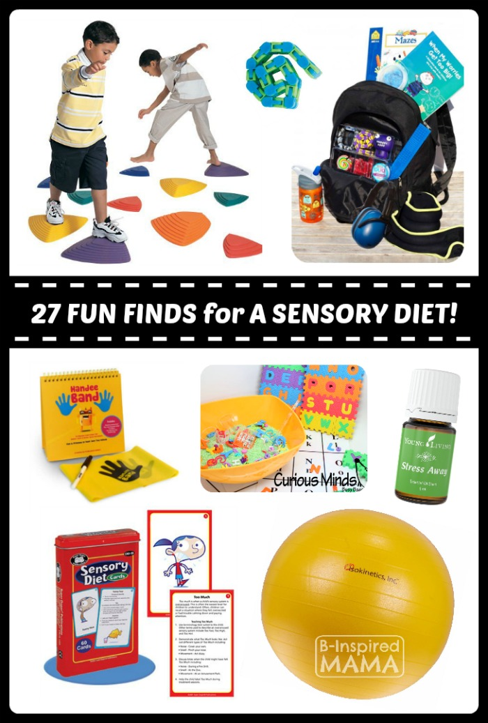 27 Fun Finds for Your Child's Sensory Diet at Fun Finds Friday - B-Inspired Mama