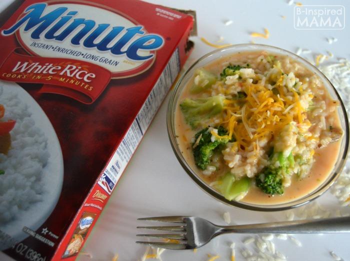 An Easy Ten Minute Cheesy Broccoli Rice Recipe - B-Inspired Mama