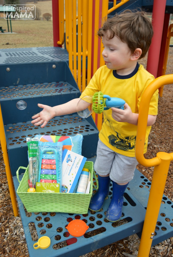 Bubbles + More Playground Playdate Ideas for the Playground with Gymboree and B-Inspired Mama
