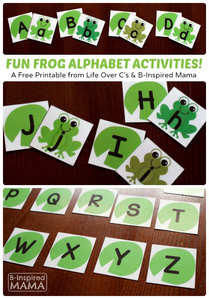 Free Frog Printable Alphabet Activity Cards for Learning and Play