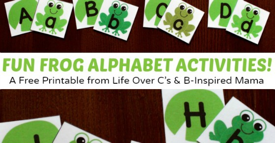 Frog and Lilypad Printable Alphabet Activity Cards + More