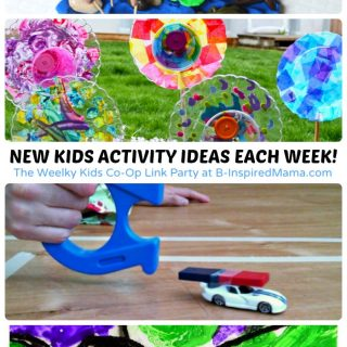 New Activities for Kids Each Week at The Weekly Kids Co-Op Link Party at B-Inspired Mama