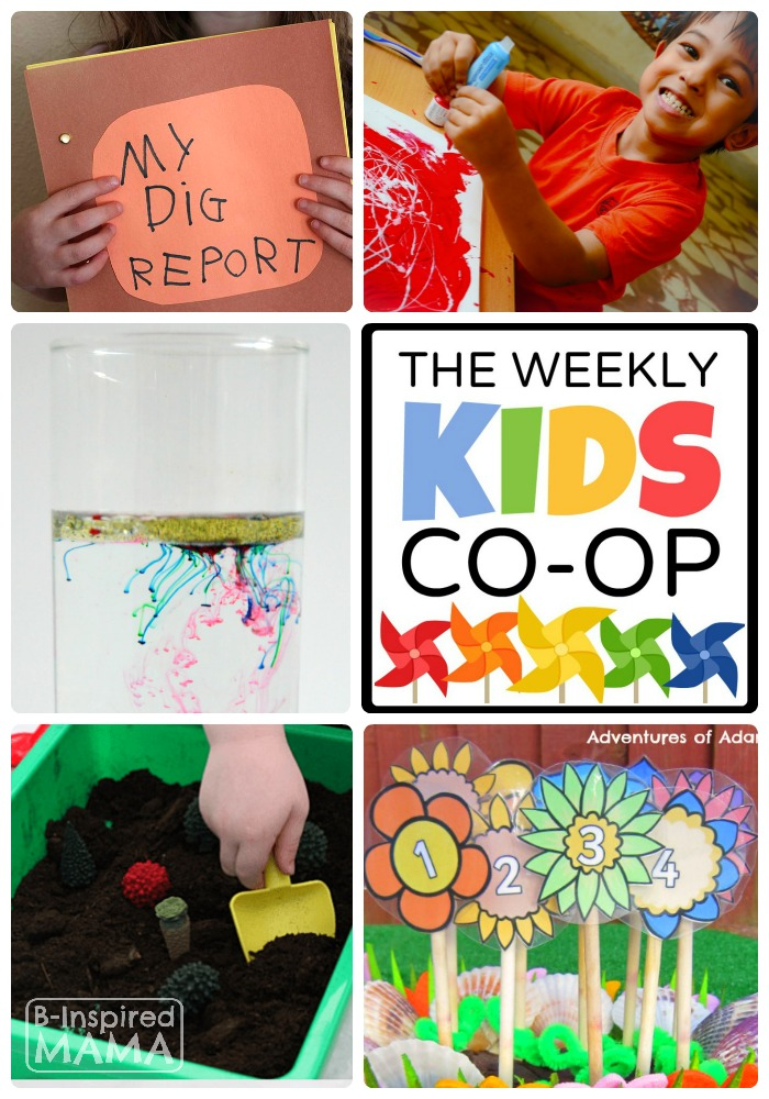 New and Fun Kids Activities Every Week at The Kids Co-Op Link Party at B-Inspired Mama
