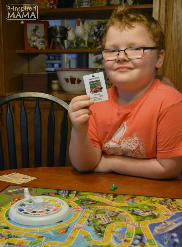 Sawyer - Talking to Kids About Future Careers - Inspired by The Game of Life My Dream Job Game at B-Inspired Mama