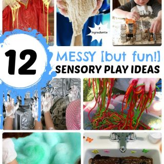12 Messy - But Fun - Sensory Play Ideas at B-Inspired Mama