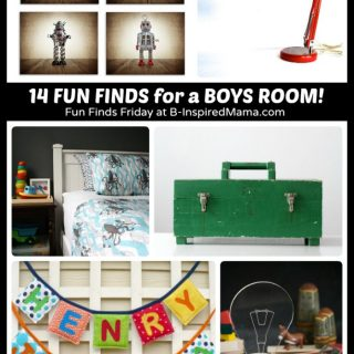 14 Fun Finds - Cool Boys Room Ideas at B-Inspired Mama