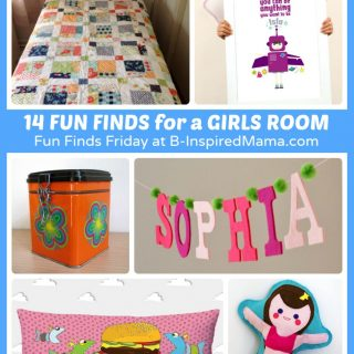 14 Fun Finds - Girls Room Ideas - Part of Fun Finds Friday at B-Inspired Mama