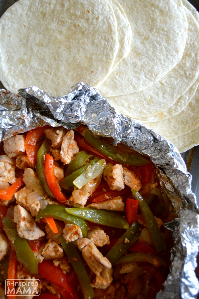 Simple Foil Packet Turkey Fajitas Recipe from B-Inspired Mama