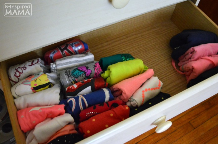 The Simple Laundry Tip That Changed My Life - Folded Laundry with Lots of Space - B-Inspired Mama