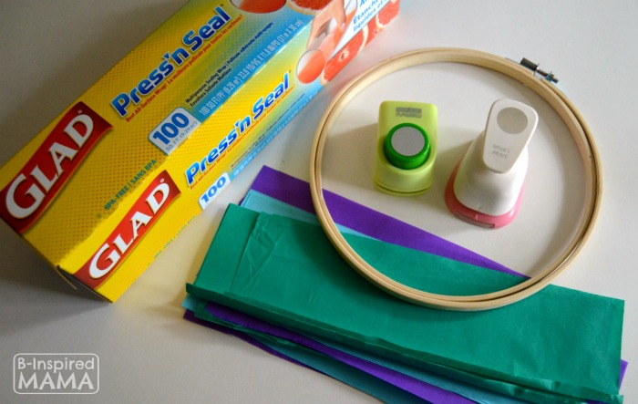 A Simple Circles Suncatcher Summer Craft - Supplies - B-Inspired Mama