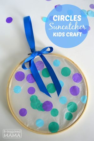 A Simple Circles Suncatcher Summer Craft for Kids - B-Inspired Mama