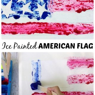 An Ice Paint American Flag Craft - B-Inspired Mama