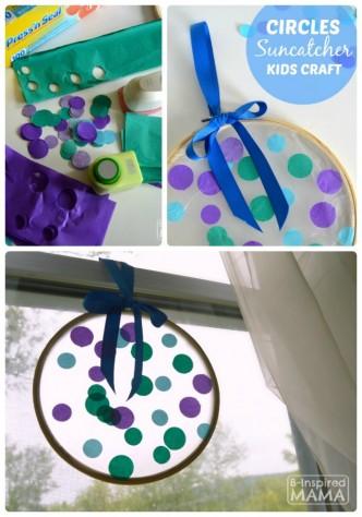 Circles Suncatcher Summer Craft for Kids - B-Inspired Mama