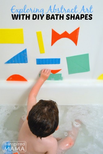 Exploring Abstract Art with DIY Kids Bath Shapes - at B-Inspired Mama