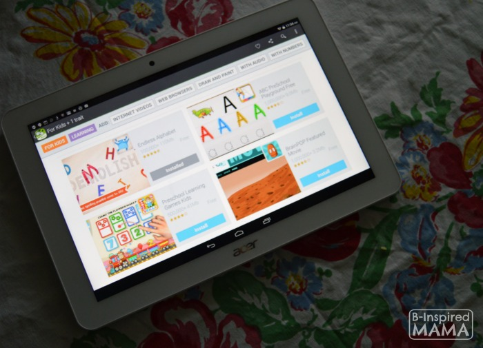 Our Secret Weapon Against Summer Learning Loss - Adding Educational Apps to our New Acer Tablet - B-Inspired Mama