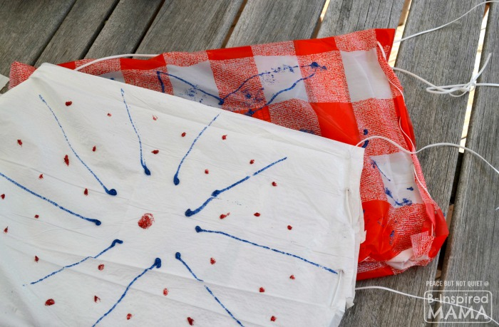Patriotic Sit-Upon Kids Craft - for Watching Fireworks on the 4th of July - B-Inspired Mama