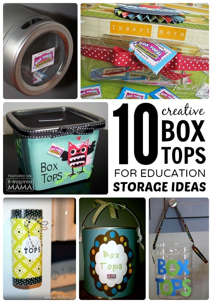 10 Creative Box Tops Storage Ideas at B-Inspired Mama