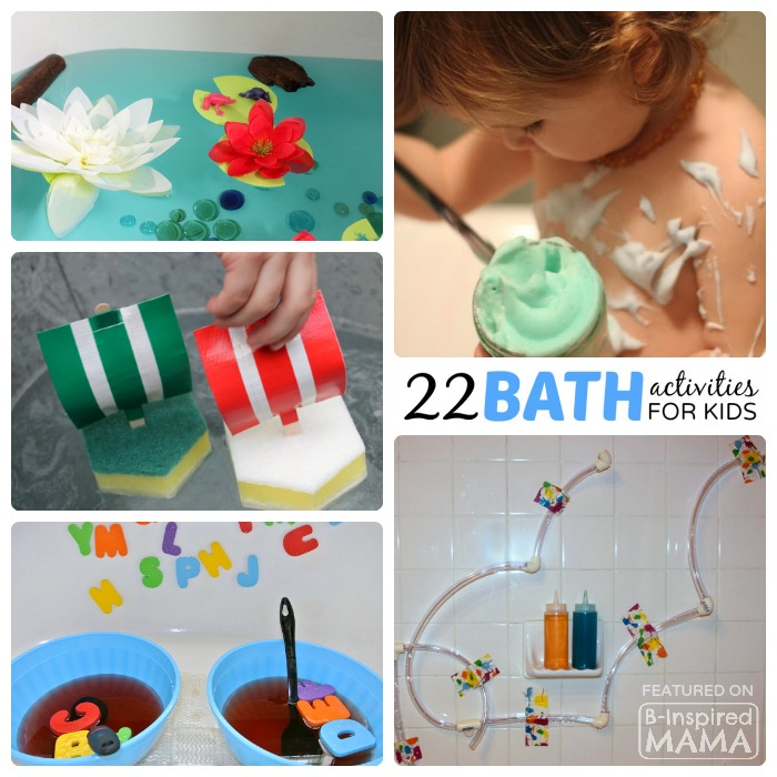 22 Super FUN Kids Bath Activities