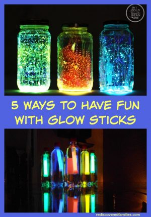 5 Ways to Have Fun with Glow Sticks + More Glowing Kids Activities