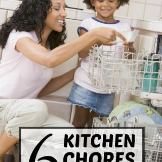 6 Kitchen Chores for Kids - to Make Moms Life Easier - at B-Inspired Mama