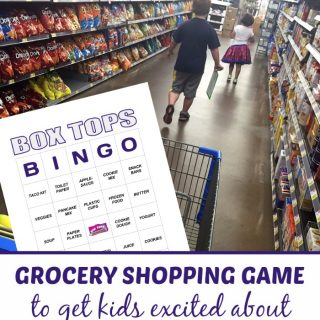 Box Tops Bingo Grocery Shopping Game - A Free Printable - at B-Inspired Mama
