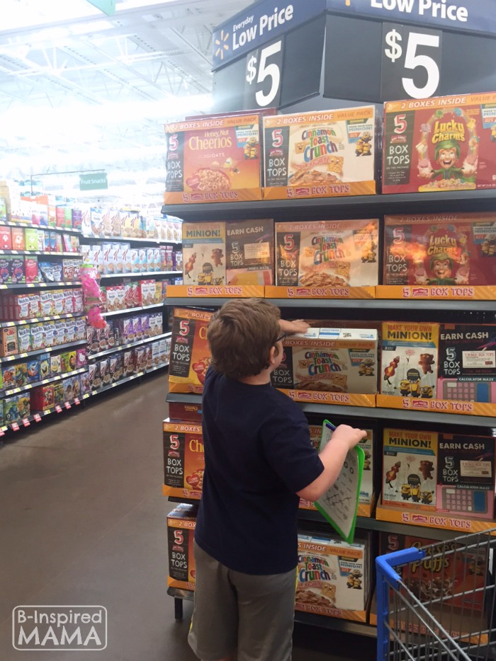 Box Tops Bingo Grocery Shopping Game - A Great Box Tops Deal - at B-Inspired Mama