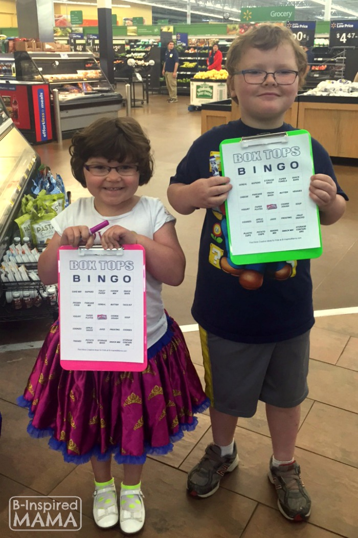 Box Tops Bingo Grocery Shopping Game - Ready to Shop - at B-Inspired Mama