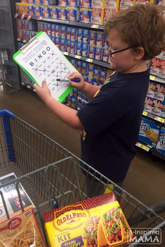 Box Tops Bingo Grocery Shopping Game - Shopping and Spotting Box Tops - at B-Inspired Mama