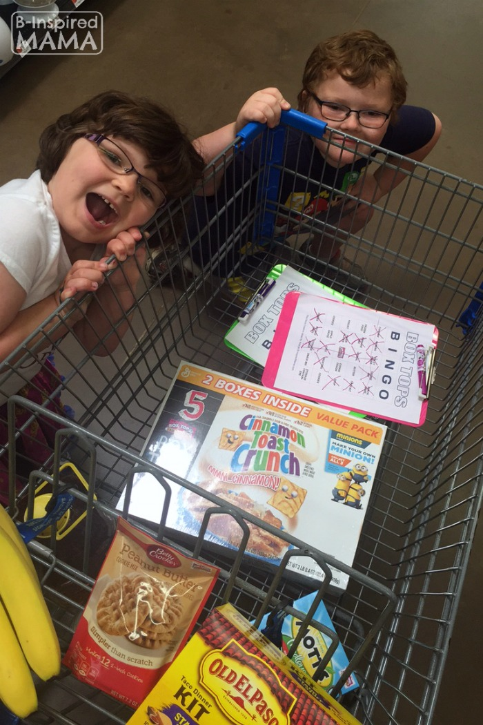 Box Tops Bingo Grocery Shopping Game - The Kids Shopping at Walmart - at B-Inspired Mama