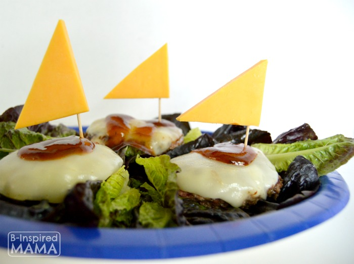 Fun Bunless Burger Boats Kids Recipe for Summer at B-Inspired Mama