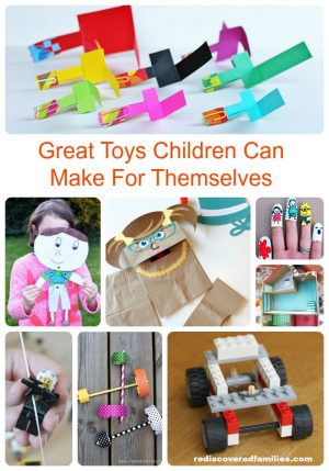Great Toys Kids Can Make for Themselves + Glowing Kids Activities, Too!