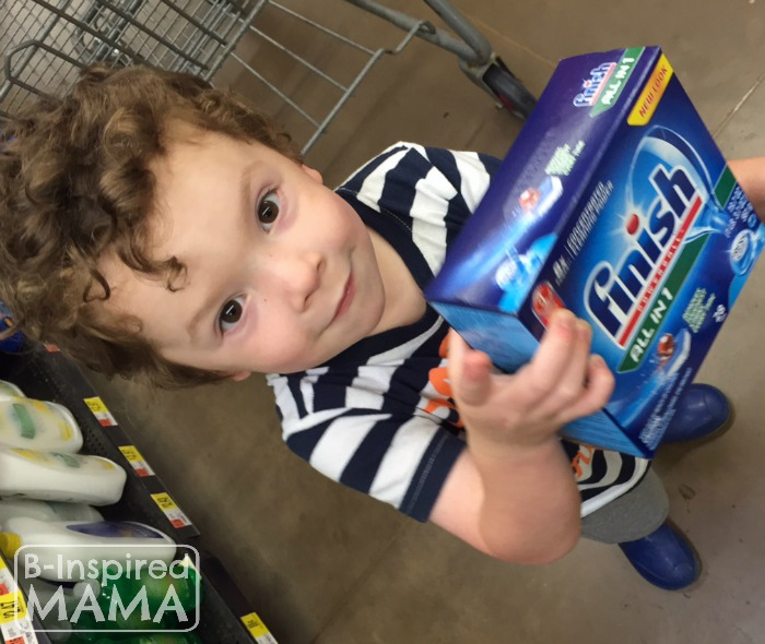J.C. Shopping for Finish at Walmart + 6 Kitchen Chores for Kids at B-Inspired Mama