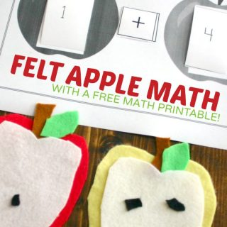 Felt Apple Math Activity + Free Math Printable at B-Inspired Mama