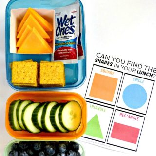 Find the Shapes in Your Lunch - A Free Kids Lunch Box Printable Learning Game for Packed Lunches