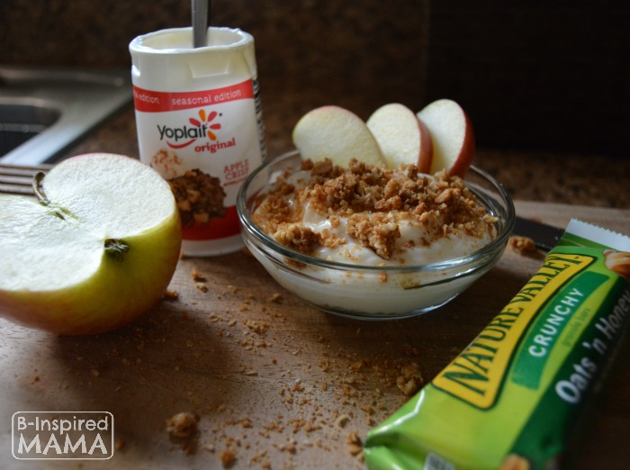 Easy No Bake Apple Crisp Snack - with Delicious Yoplait Yogurt - B-Inspired Mama